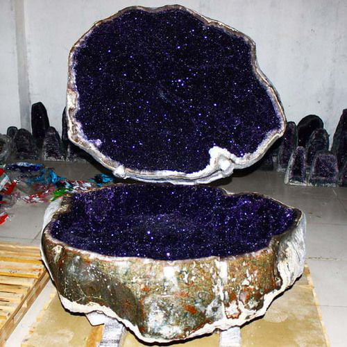 A giant amethyst geode from Uruguay
