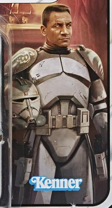 Art of Temuera Morrison as Commander Wolffe from the vintage collection Wolffe figure. Absolutely awesome!